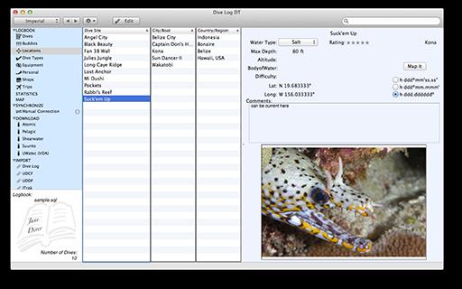 Dive Log Manager For Mac Screen-Dive-Log-DT-Site