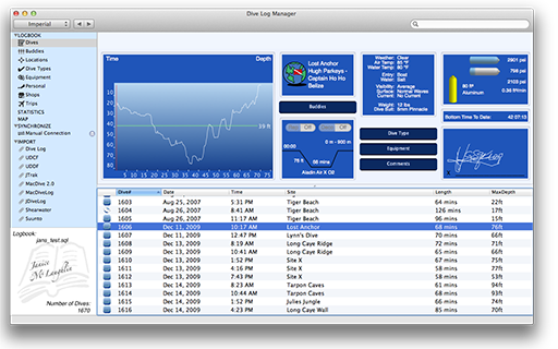 Dive Log Manager on the Mac App Store